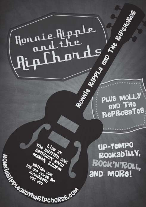 Ronnie ripchords poster PRINT
